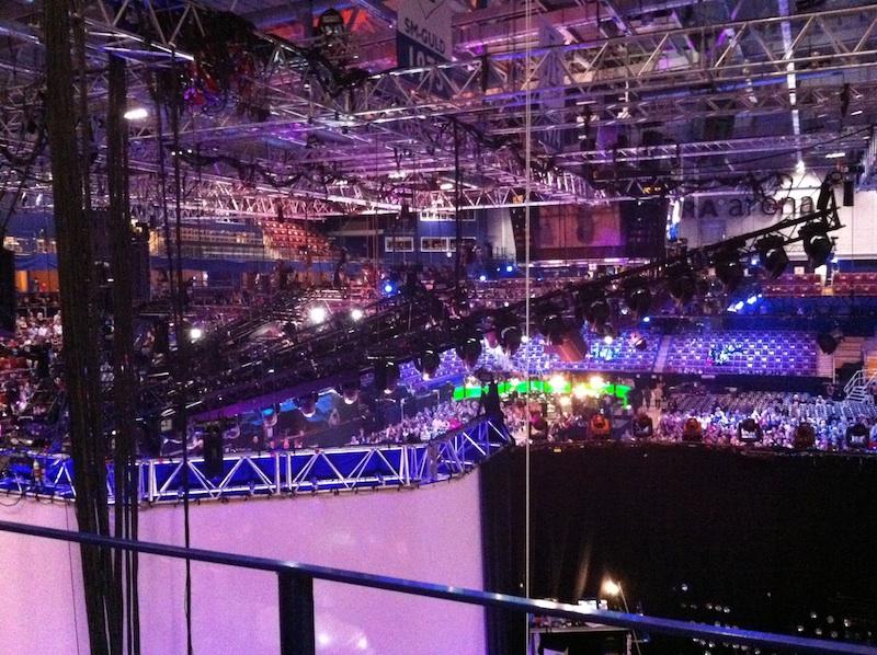 Utsikt från logen - Tegera Arena