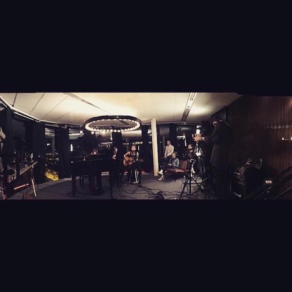 Inspelning med Mariette, akustisk session