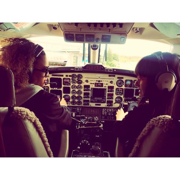 Jag och Norpan fick köra flygplan
