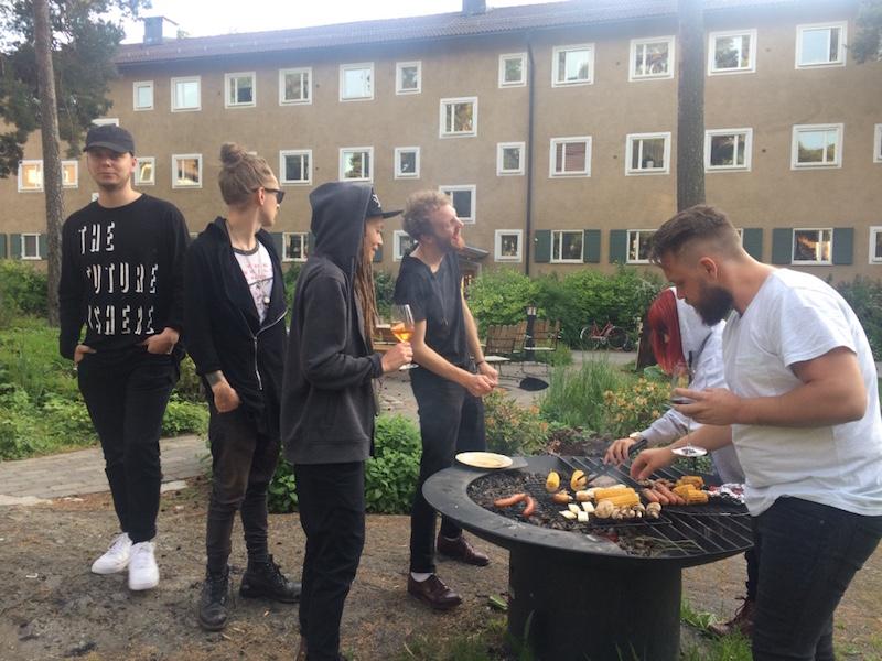 BBQ med Mariette-gänget