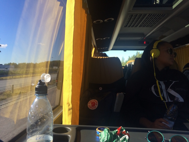 Dani, påväg till prodrep i Örebro