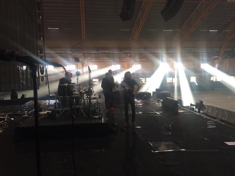 Soundcheck i Kiruna - magiskt ljus!